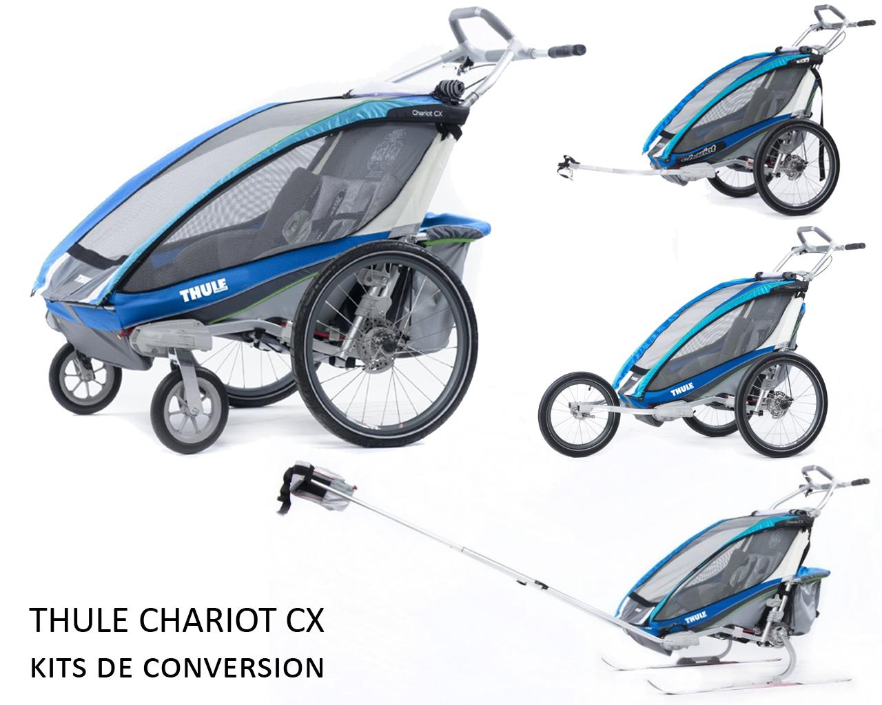 Thule Chariot Cx Avec Kit De Remorque Vélo Le Dérailleur